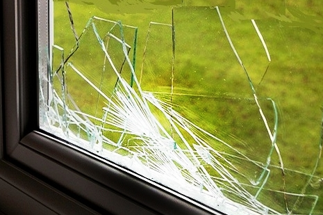 broken upvc- glass window